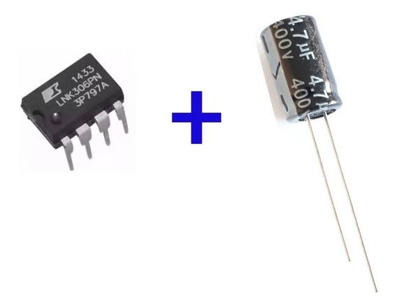 Ci Lnk306pn 5pçs + Capacitor 4,7uf 400v 10pçs Frete 8,00