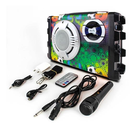 Caixa De Som Goldenultra 1507 Bluetooth 1 Microfone
