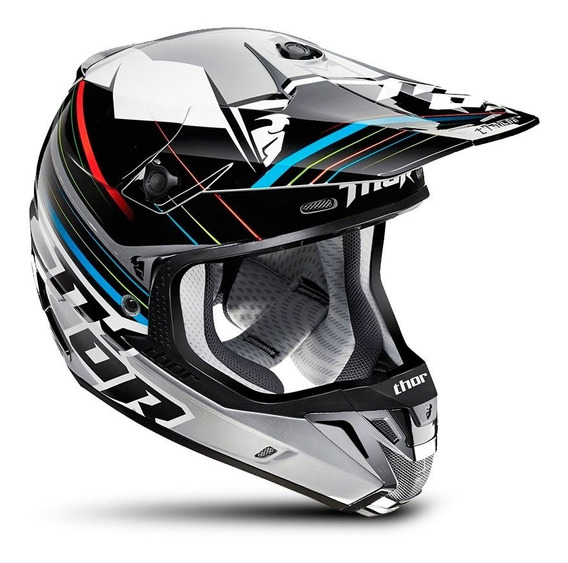 Capacete Motocross Trilha Thor Verge Stack Cinza