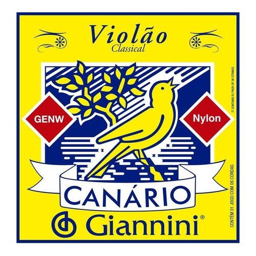 Imagem 1 de 1 de Jogo De Corda Violão Canário - Giannini - Nylon S/bolinha
