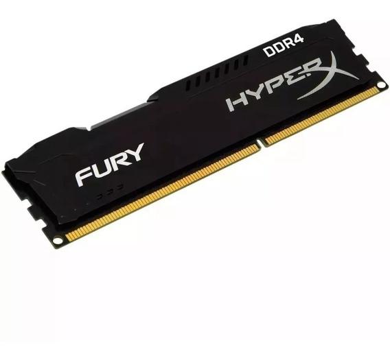 Memória Kingston Hyperx Fury Black - 16gb - Ddr4 - 2400mhz