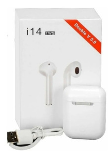 Novo Fone Branco Bluetooth I14 Tws Touch Para Android E Ios