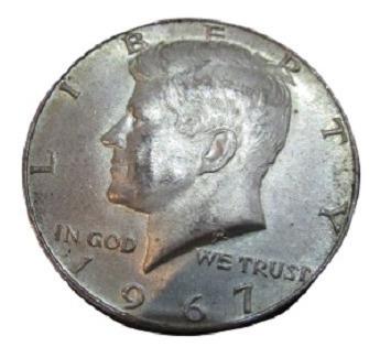 Moneda Medio Dólar 1967 - Kennedy - Plata Half Dollar