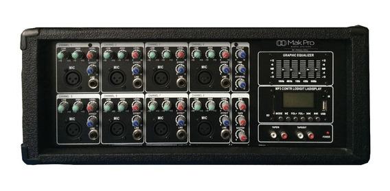 Cabeçote Amplificado 150w 8 Canais +usb,sd,mp3,bluetooth,fm