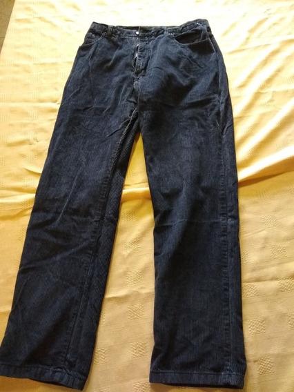 Pantalón Corderoy Talle 44 Color Negro Usado (quilmes)