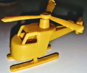 Helicóptero - Helicóptero Anos 80 Plástico Cor Única Amarelo