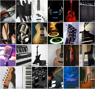 Placa Decorativa A3 Instrumentos Musicais Vários Modelos