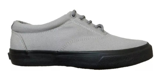 Tenis Sperry Unisex Gris Striper Ll Sts14540