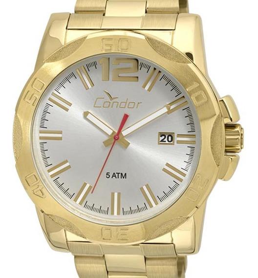 Relógio Condor Masculino Dourado Co2415bf/4k Original + Nf-e