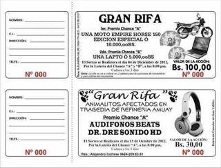 Boletos Para Rifa 100 Boletos Personalizados Folio