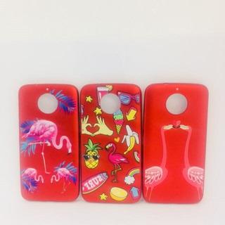 Capa Moto G5s Plus Xt1802 5.5 Case Flamingo Red Chaveiro G5s