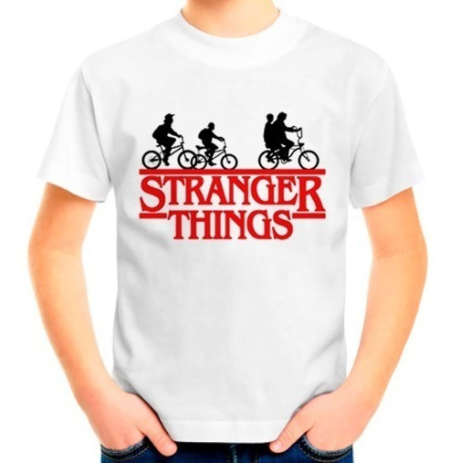 Camiseta Camisa Blusa Infantil Stranger Things Onze Série
