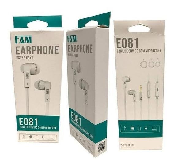 Fone De Ouvido E081 Fam Microfone Extra Baas Microfone