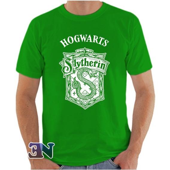 Camiseta Slytherin Sonserina Hogwarts Harry Potter