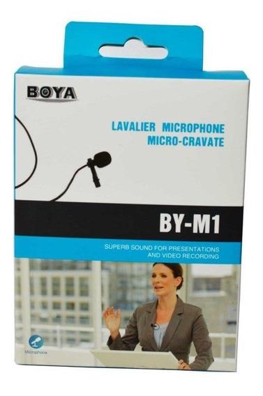 Microfone De Lapela Para Smartphones E Youtubers Boya By-m1