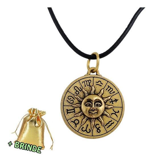 Colar Astrologia Zodíaco Dourado
