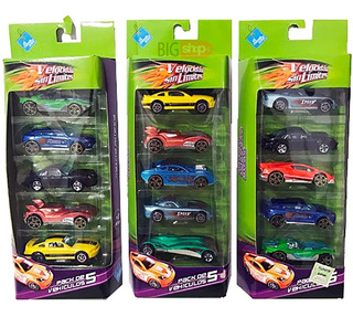 Autos Metal Set X 5 Autitos El Duende Azul New 6234 Bigshop