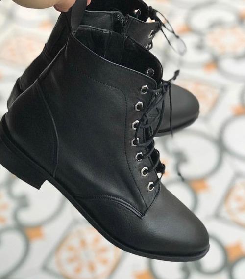 Zapato Mujer Borcego Cuero Liso - Lynch - #2930