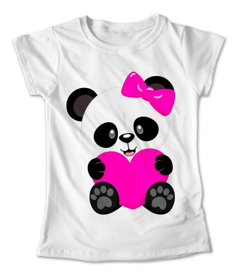 Blusa Panda Colores Playera Estampado Oso Moño Corazon #236