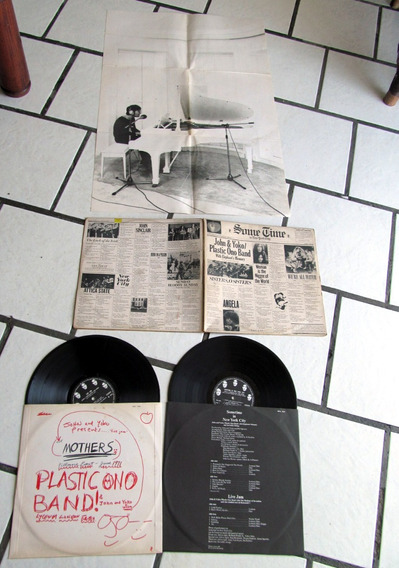 Lp Live Jam John Lennon Beatles Plastic Ono Encarte Gigante