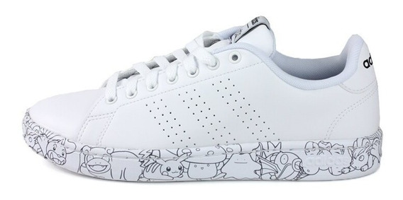 Tenis adidas Advantage Pokemon Bco Eh1110