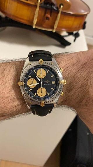 Relógio Breitling Chronomat B13047 Aço E Ouro 40mm Revisado