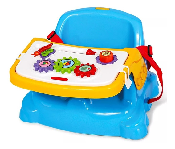 Cadeira Papinha Rosa Ou Azul Didática Atividades C/segurança