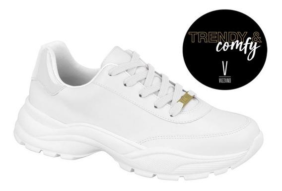 Tênis Feminino Chunky Sneaker Vizzano Branco 1331101