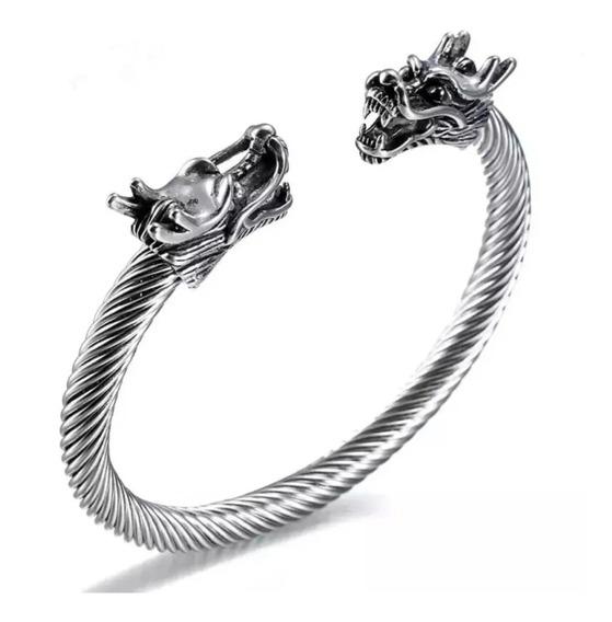 Pulseira Bracelete Viking Aço Inox 316l Ragnar Ajustavel