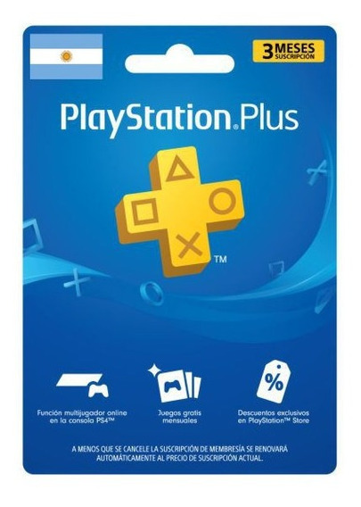 Codigo Playstation Plus Argentina - Usa Ps4 3 Meses Inmediat