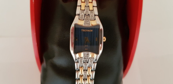 Relógio Technos Feminino Na Caixa Novo Aço Inox Zircônias!!!
