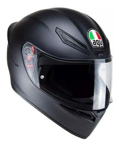 Capacete Agv K1 Monocolor Preto Fosco Valentino Rossi