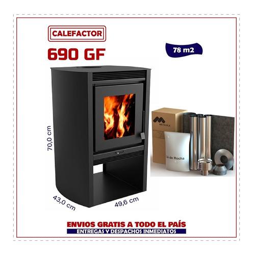 Imagen 1 de 6 de Calefactor Ecológico Doble Combustión Liv 690gf + Kit Techo