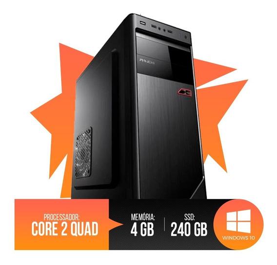Pc Intel Core 2 Quad,4gb Ram Ddr3,hd Ssd 240gb Promoção