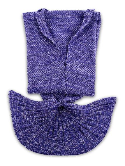 Cobertor Tejido Cola De Sirena Para Verano 5 Piezas
