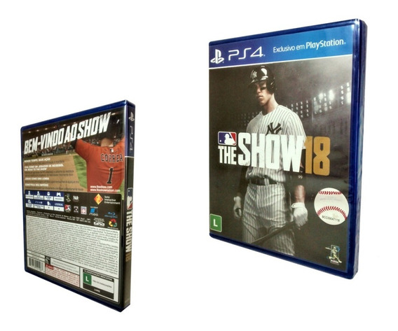 Ps4 Jogo Mlb The Show 18 Esporte Baseball Rpg Playstation 4 Midia Física Multiplayer