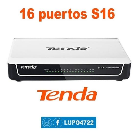 Conmutador Switch De 16 Puertos De 10/100 Mbps S16