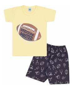 Pijama Infantil Menino Brilha No Escuro 06 A 14 Anos