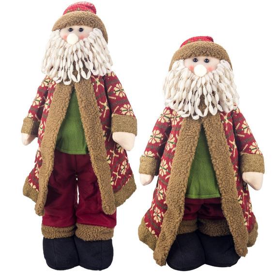 Papai-noel 1634a Natal 70cm Pernas Telescópicas Decoração