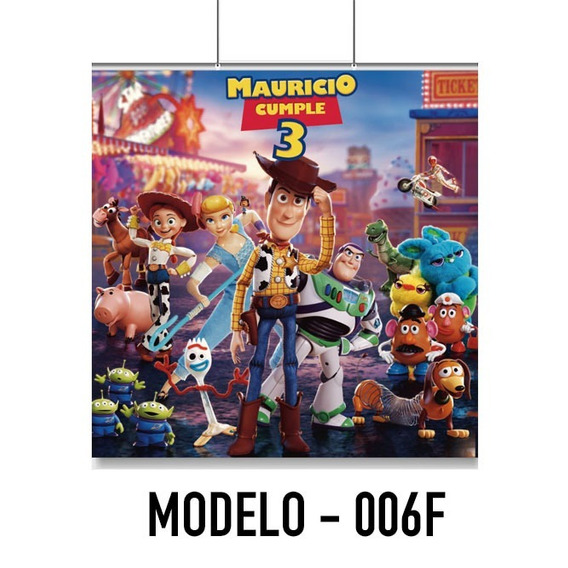 Toy Story Lona 1x1 Para Tu Fiesta Evento Decoración Buzz