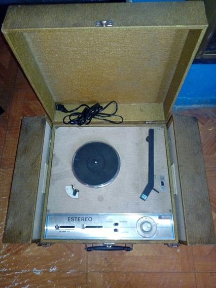 Tocadiscos Con Radio Antiguo Portátil