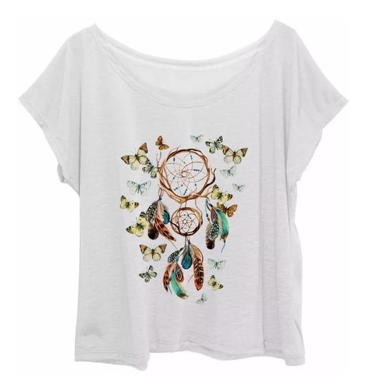 T-shirt Feminina Apanhador De Sonhos Fitness Plus Size G3