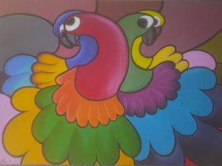 Quadro Famosos De 3 Papagaios Criatividade Meu Miligrimas