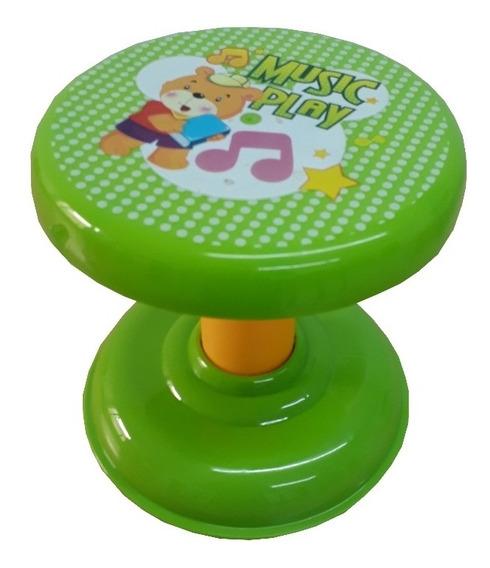 Cadeira Banqueta Desmontável Infantil Ursinho Verde Meninos