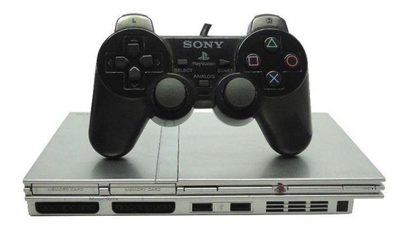 Console Playstation 2 Slim Prata Japonês Sony Pronta Entrega