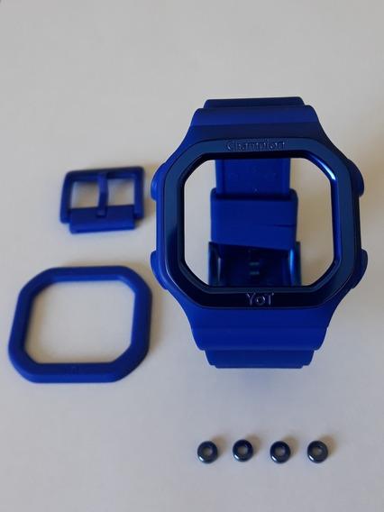 Pulseira Relógio Champion Yot Azul + Aros E Fivela De Metal