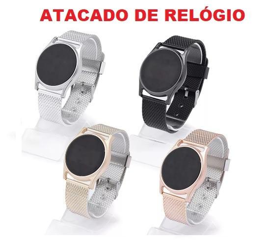 15x Relógio Leve Ajustável Para Revenda + Caixinha Unissex
