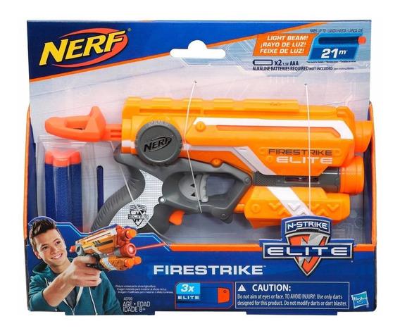 Lança Dardo Nerf El Firestrike Laranja - Hasbro