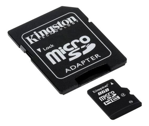 Memória Microsd Kingston 8gb + Adaptador Orginal C/ Garantia