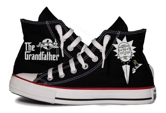 All Star Rick And Morty The Grandfather Tênis Personalizado